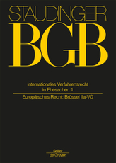 Internationales Verfahrensrecht in Ehesachen (IntVerfREhe). Bd.1