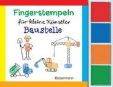 Fingerstempeln für kleine Künstler - Baustelle