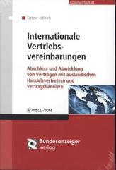 Internationale Vertriebsvereinbarungen, m. CD-ROM