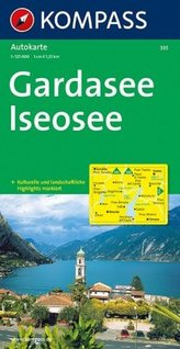 Kompass Karte Gardasee, Iseosee. Lago di Garda, Lago d' Iseo