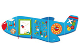 Dřevěná nástěnná hra - letadlo