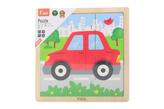 Dřevěné puzzle 9 dílků - autíčko