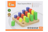 Dřevěné vkládačka - barvy a tvary