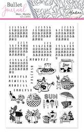 Razítka StampoBullet Journal - Kalendárium