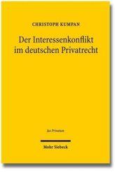 Der Interessenkonflikt im deutschen Privatrecht