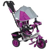 Dětská tříkolka s LED světly Baby Mix Lux Trike šedo-fialová