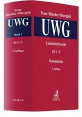 Lauterkeitsrecht, Kommentar zum Gesetz gegen den unlauteren Wettbewerb (UWG). Bd.1
