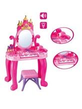 Dětský toaletní stolek s pianem a židličkou Bayo + příslušenství 13 ks