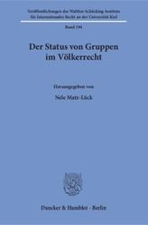 Der Status von Gruppen im Völkerrecht