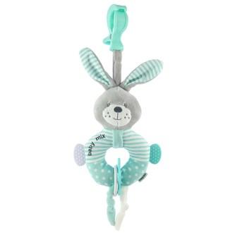 Edukační plyšová hračka s klipem Baby Mix králík mátový