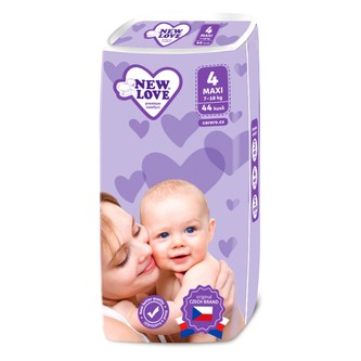 Dětské jednorázové pleny New Love Premium comfort 4 MAXI 7-18 kg 44 ks