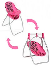 Jídelní židlička a houpačka 2v1 pro panenky PlayTo Isabella