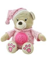 Plyšový usínáček medvídek s projektorem Baby Mix růžový