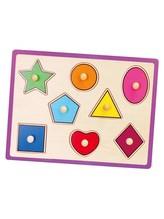 Dětské dřevěné puzzle s úchyty Viga geometrické tvary