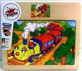 Dřevěné puzzle Vláček
