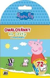 Omalovánky na cesty s voskovkami Peppa Pig