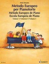 Europäische Klavierschule, Spanisch-Portugiesisch-Italienisch. Metodo Europeo per Pianoforte. Método Europeo de Piano. Escola Eu