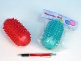 Váleček masážní antistresový guma 13 cm 2 barvy v sáčku