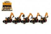 Traktor s podkopem stavební kov/plast 15cm asst na zpětné natažení