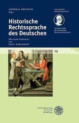 Historische Rechtssprache des Deutschen