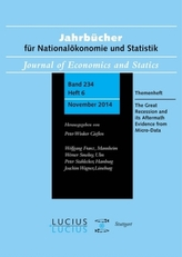 The Great Recession and its Aftermath: Evidence from Micro-Data. Themenheft.6