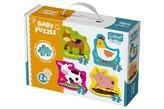 Puzzle baby zvířata na farmě 4ks v krabici 27x19x6cm 2+