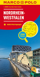 MARCO POLO Karte Nordrhein-Westfalen. North Rhine-Westphalia / Rhénanie-du-Nord-Westphalie
