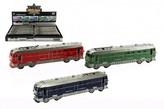 Vlak/Lokomotiva na baterie se zvukem a se světlem plast 23 cm na setrvačník (1ks) 3 barvy