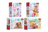Minipuzzle 54 dílků Domácí zvířata 4 druhy v krabičce 9x6.5x4cm