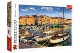 Puzzle Starý přístav v Saint Tropez 1500 dílků 85x58cm v krabici 40x27x6cm