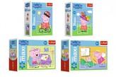 Minipuzzle miniMaxi 20 dílků Zábava s Peppou Pig/Peppa pig  11x8x4cm