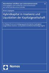 Hybridkapital in Insolvenz und Liquidation der Kapitalgesellschaft