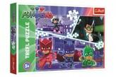 Puzzle Maska v akci/PJ Masks 100 dílků 41x27,5cm v krabici 29x20x4cm