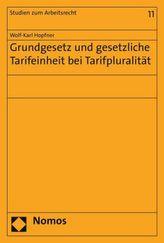 Grundgesetz und gesetzliche Tarifeinheit bei Tarifpluralität