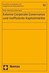 Externe Corporate Governance und ineffiziente Kapitalmärkte
