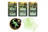 Puzzle 3D plast Svět dinosaurů svítící ve tmě 3 druhy na kartě 15x25,5x0,5cm
