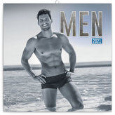 Kalendář 2021 poznámkový: Muži, 30 × 30 cm