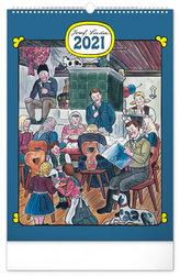 Kalendář 2021 nástěnný: Josef Lada – Tradice a zvyky, 33 × 46 cm