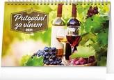 Kalendář 2021 stolní: Putování za vínem, 23,1 × 14,5 cm