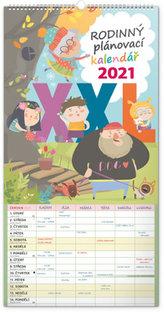 Kalendář 2021 Rodinný plánovací XXL nástěnný (česká verze), 33 × 64 cm