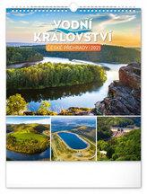 Kalendář 2021 nástěnný: Vodní království – české přehrady, 30 × 34 cm