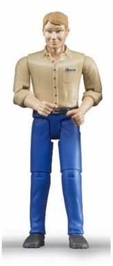Bruder Figurka muž modré kalhoty