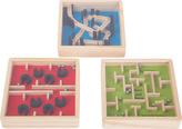 Dřevěný barevný kuličkový labyrint 1 ks