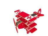 RoboTime Solární letadlo trojplošník barevný