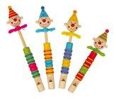 Small Foot Dětská dřevěná píšťalka s klaunem a vrtulkou 1 ks