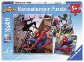 Puzzle Spiderman v akci/3x49 dílků