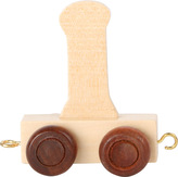 Dřevěný vláček vláčkodráhy abeceda písmeno I