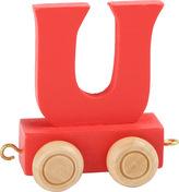 Dřevěný vláček barevná abeceda písmeno U