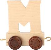 Dřevěný vláček vláčkodráhy abeceda písmeno M