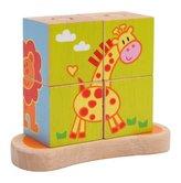 Small Foot Dřevěná motorická hra obrázkové kostky na tyči
